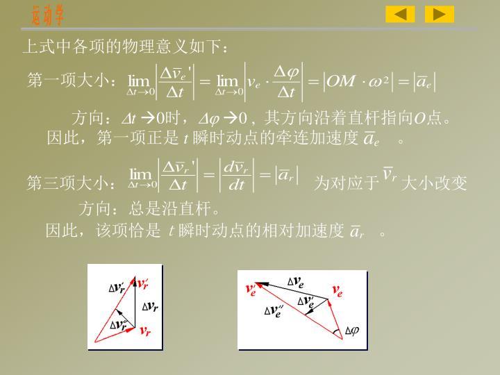 上式中各项的物理意义如下: