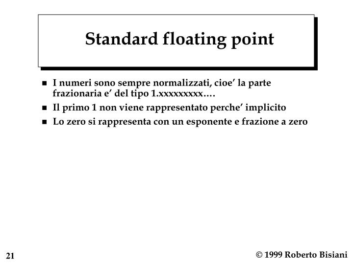 Standard floating point