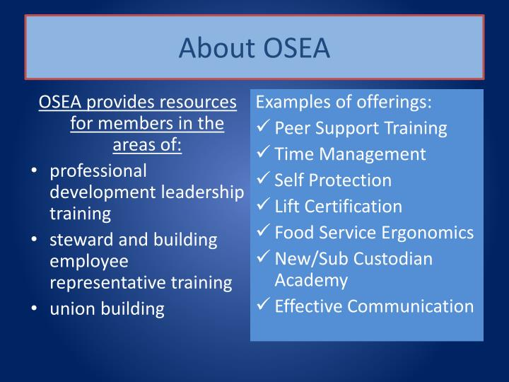 About OSEA