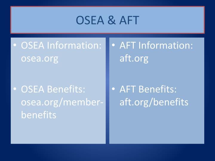 OSEA & AFT