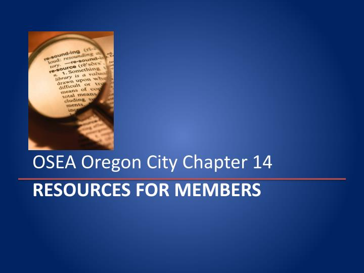 OSEA Oregon City Chapter 14