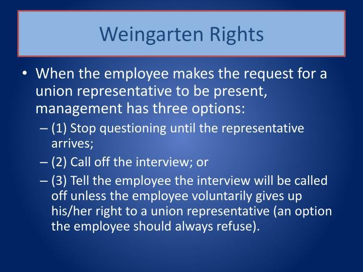 Weingarten Rights