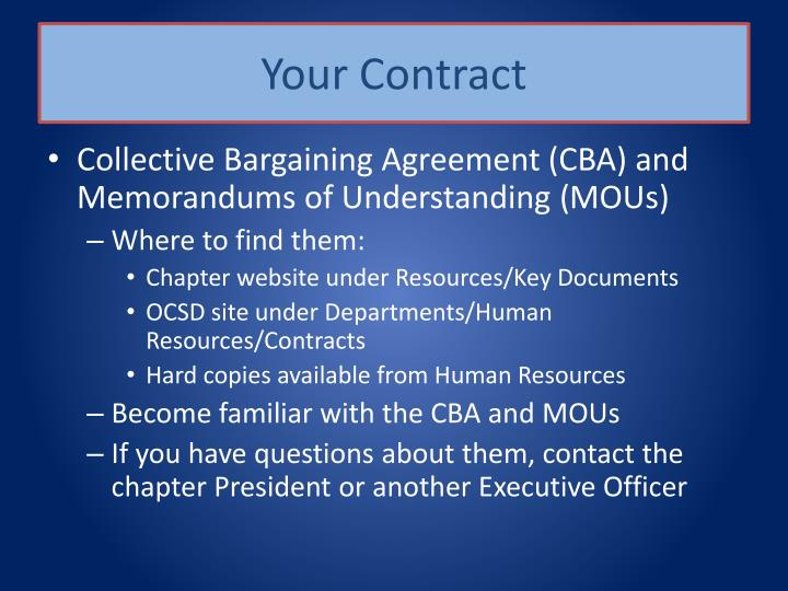Your Contract