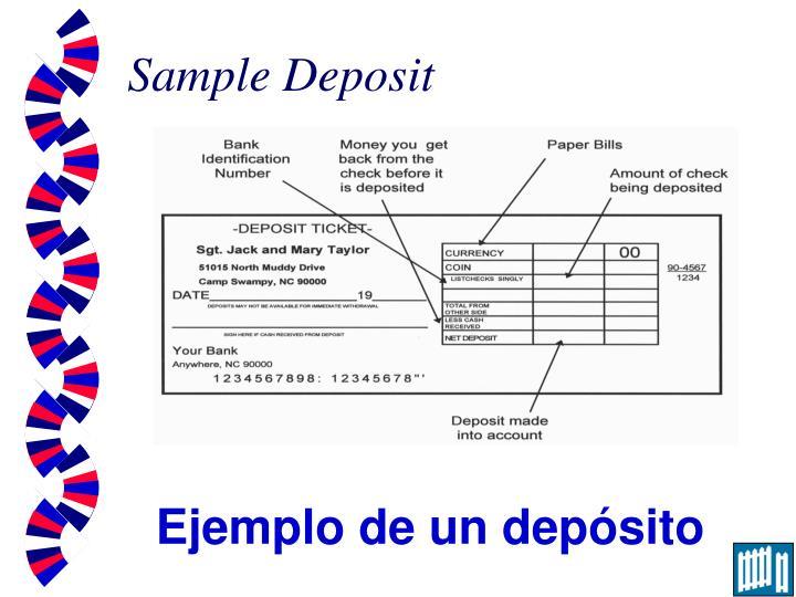 Sample Deposit
