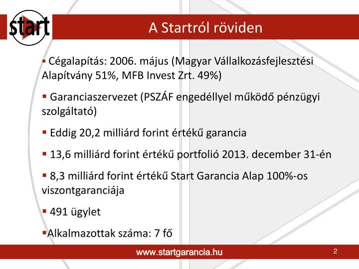 A Startról röviden