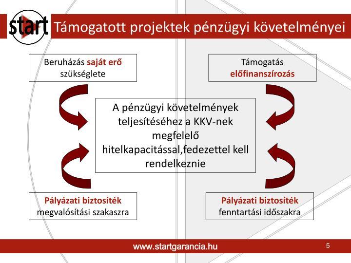Támogatott projektek pénzügyi követelményei