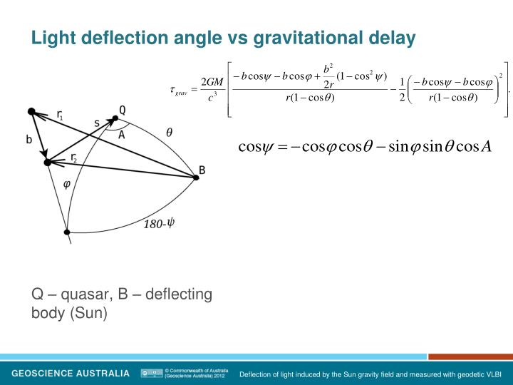 Light deflection angle vs gravitational delay