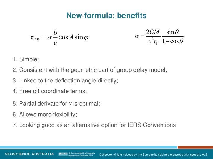 New formula: