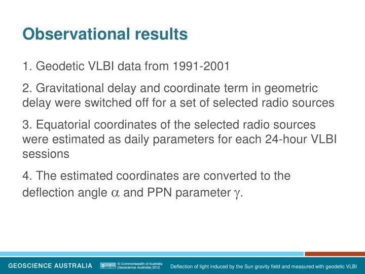 Observational results