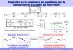 variaci n de la constante de equilibrio con la temperatura ecuaci n de van t hoff