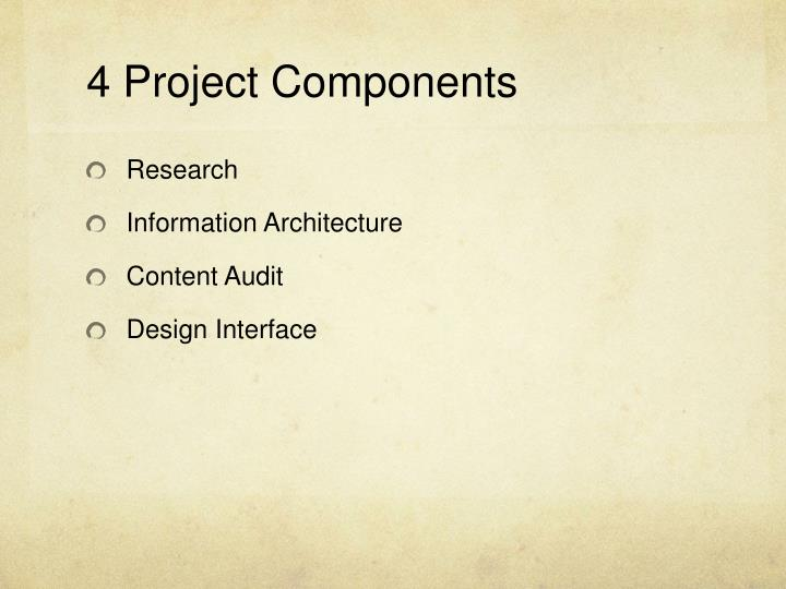 4 project components