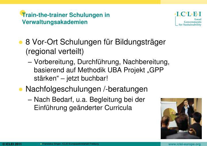 Train-the-trainer Schulungen in Verwaltungsakademien