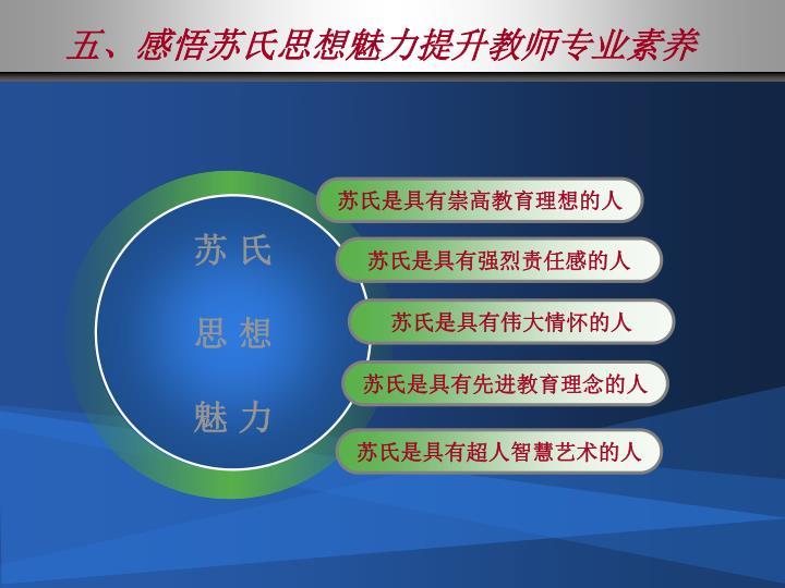 五、感悟苏氏思想魅力提升教师专业素养