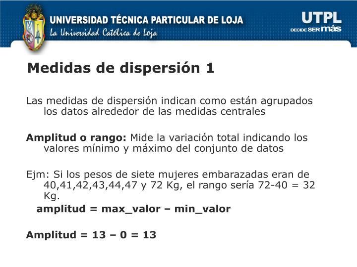 Medidas de dispersión 1