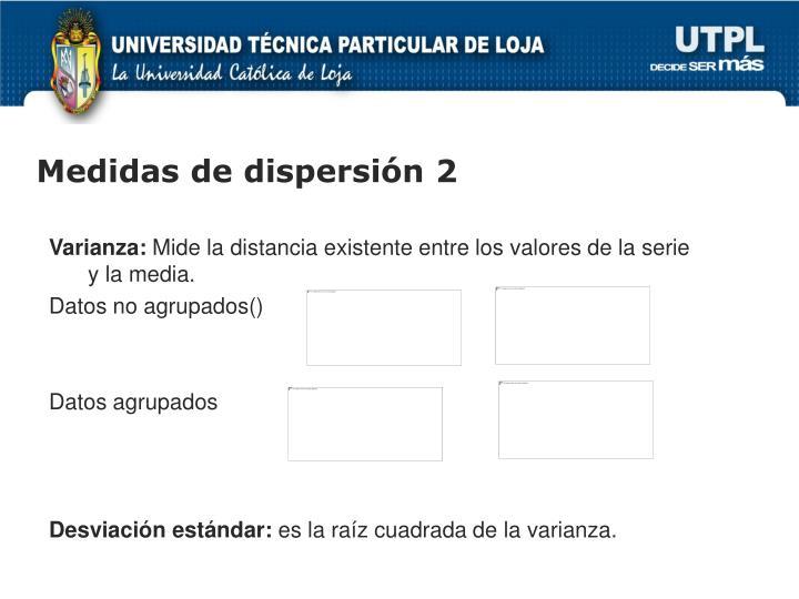 Medidas de dispersión 2