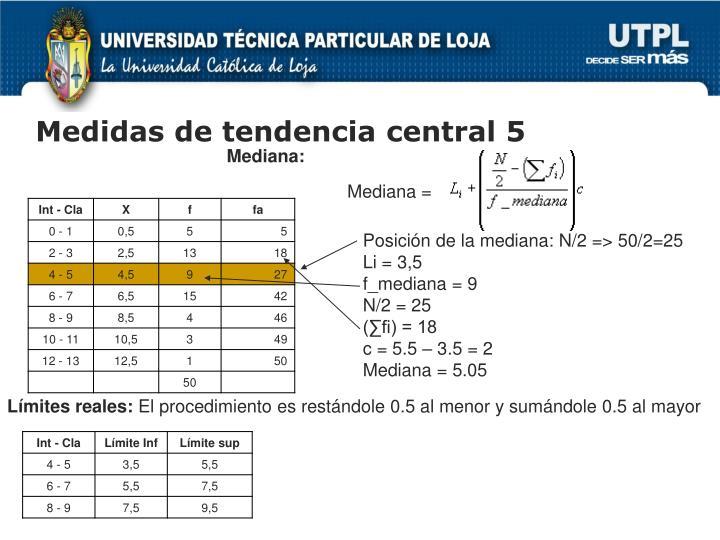 Medidas de tendencia central 5