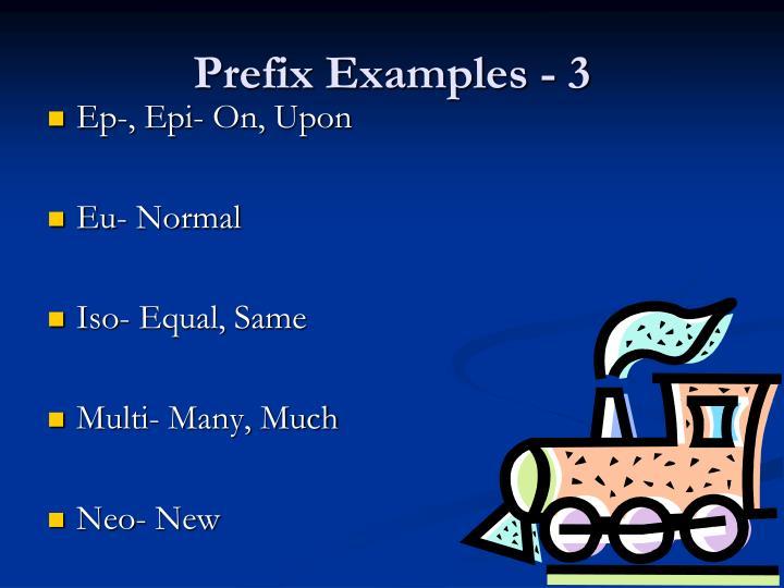 Prefix Examples - 3