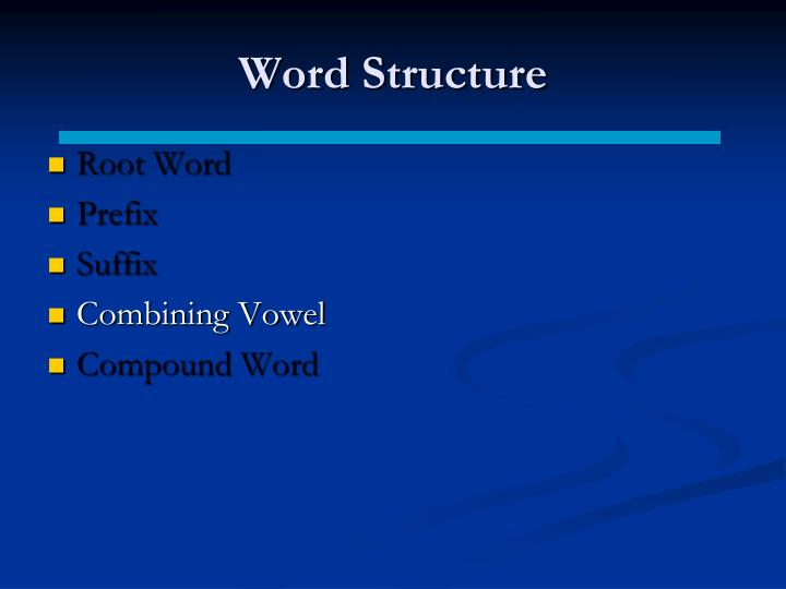Word Structure