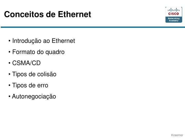 Conceitos de Ethernet