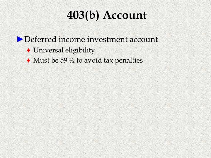 403(b) Account