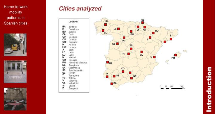 Cities analyzed