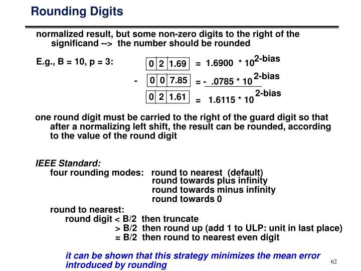 Rounding Digits