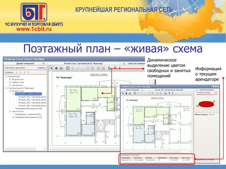 Поэтажный план – «живая» схема