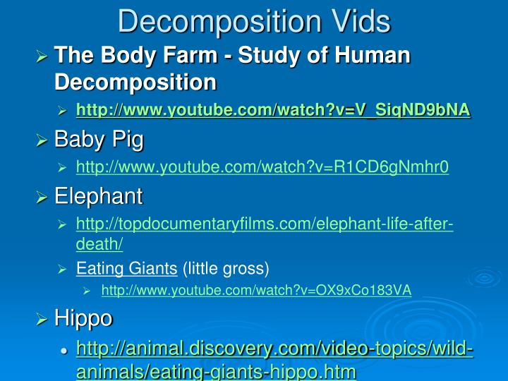 Decomposition Vids
