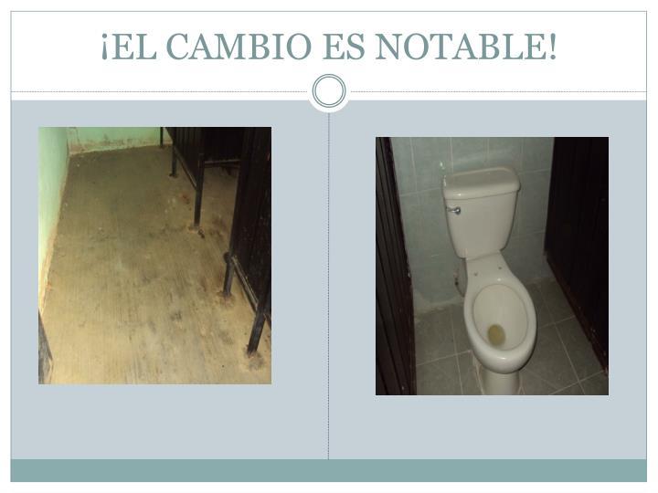 ¡EL CAMBIO ES NOTABLE!