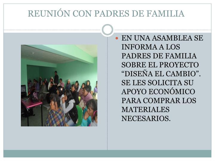REUNIÓN CON PADRES DE FAMILIA