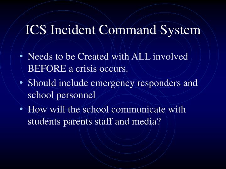 ICS Incident Command System