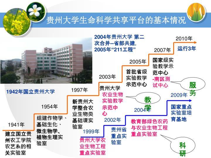 贵州大学生命科学共享平台的基本情况