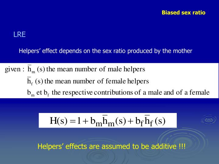 Helpers' effect depends on the sex ratio produced by the mother