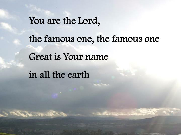 You are the Lord,