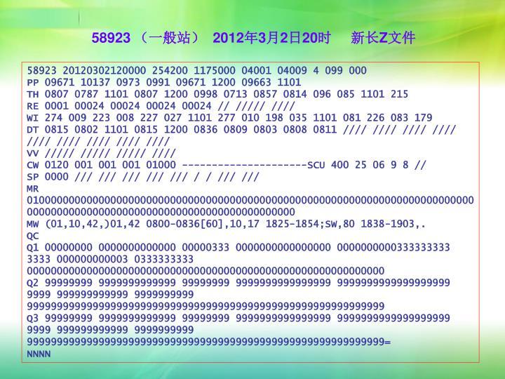 58923 (一般站)  2012年3月2日20时     新长Z文件