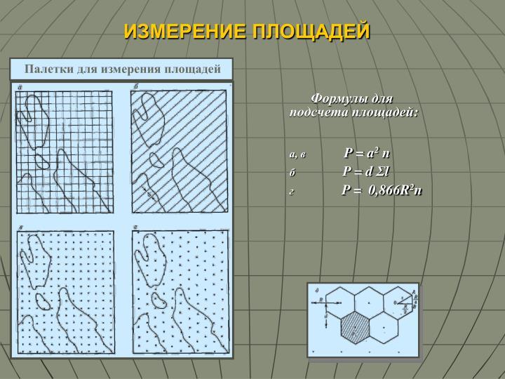Палетки для измерения площадей