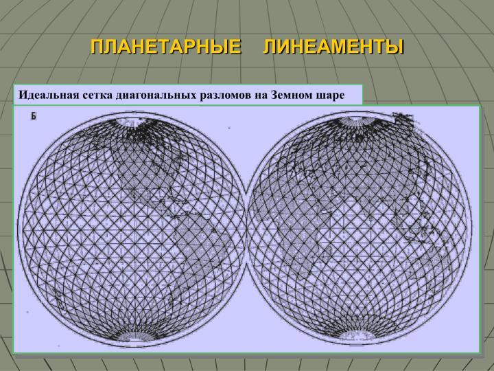 Линеаменты на Земном шаре