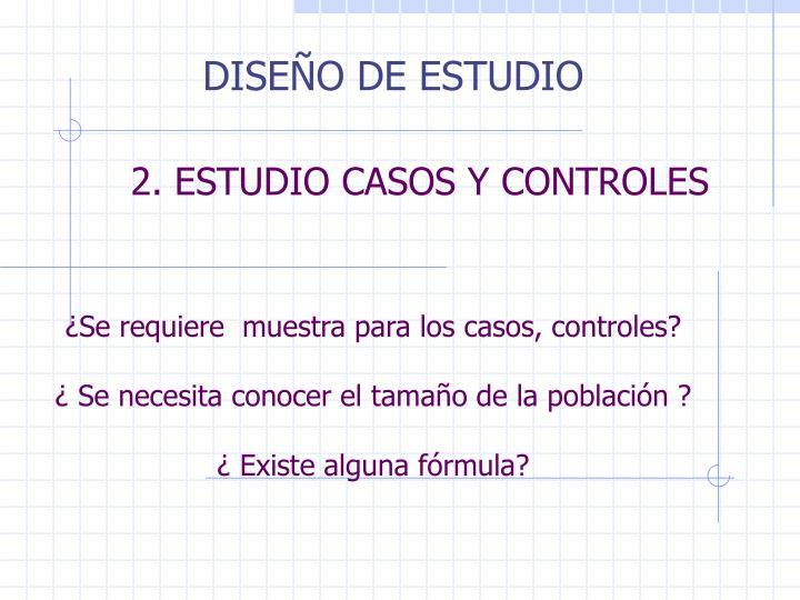 DISEÑO DE ESTUDIO