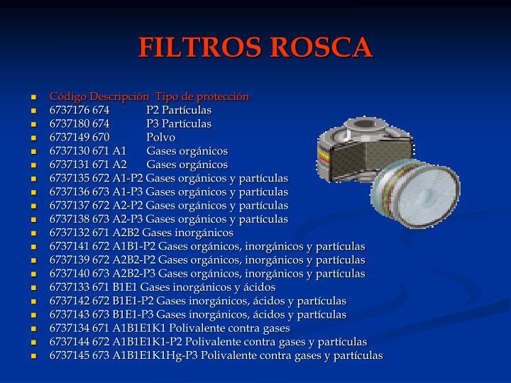 FILTROS ROSCA