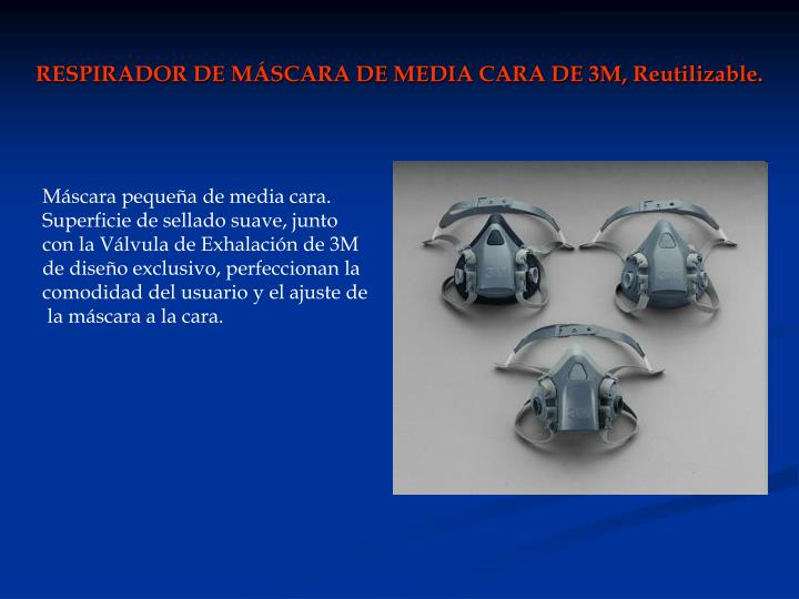 RESPIRADOR DE MÁSCARA DE MEDIA CARA DE 3M, Reutilizable.