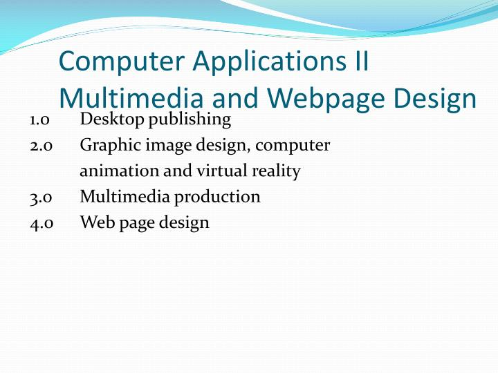 Computer Applications II