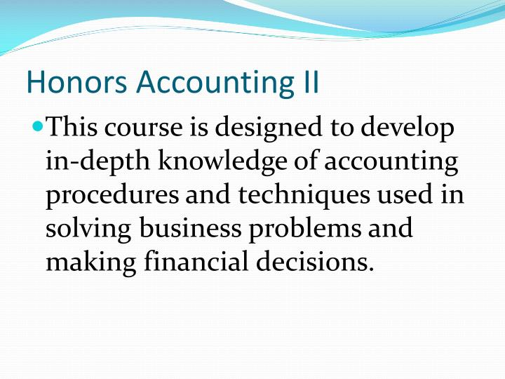 Honors Accounting II