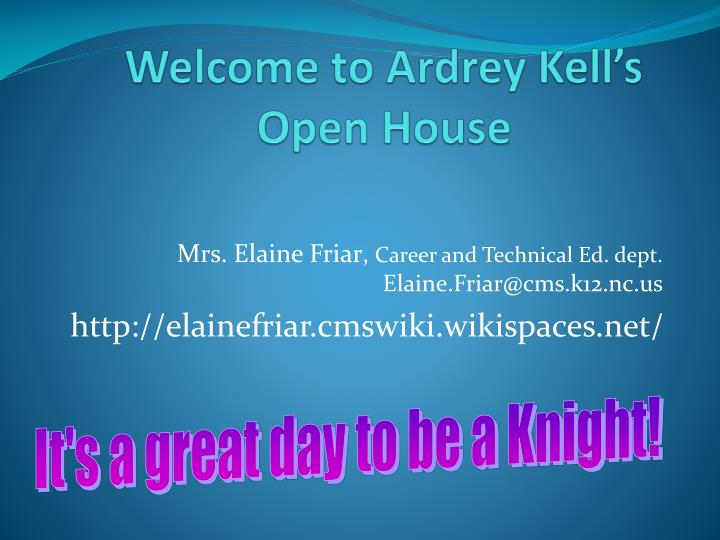 Welcome to ardrey kell s open house