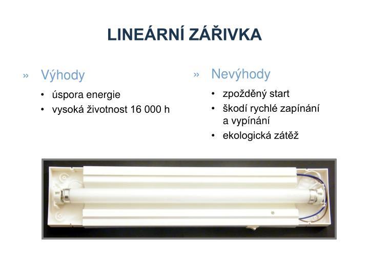 lineární zářivka