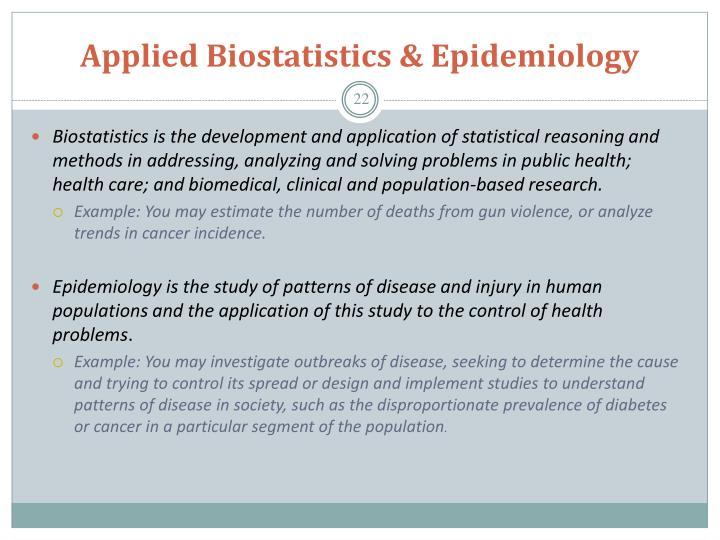 Applied Biostatistics & Epidemiology