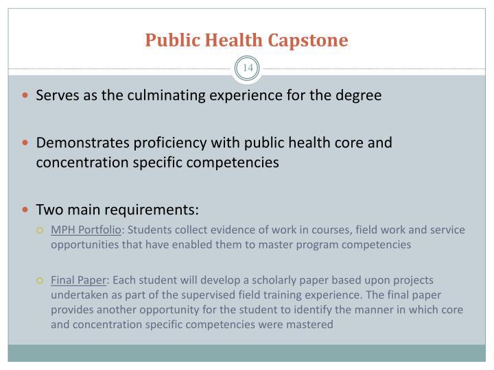 Public Health Capstone