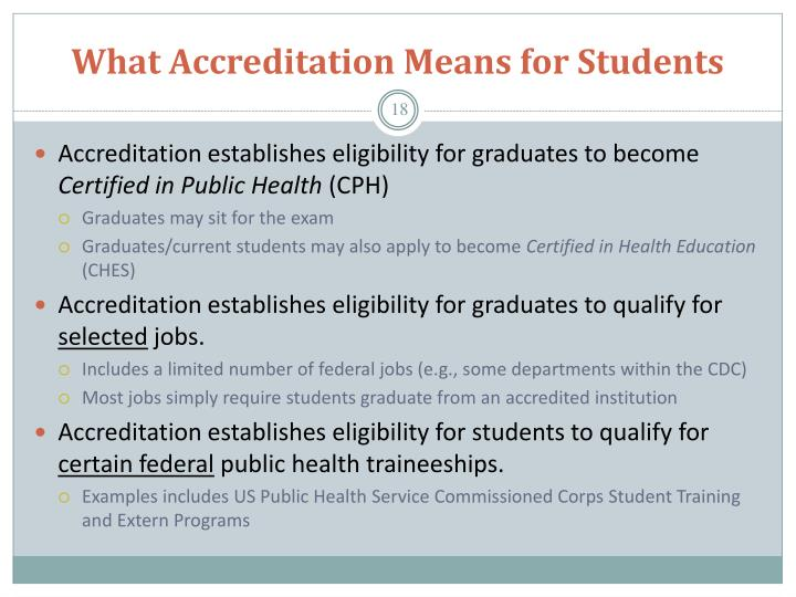 What Accreditation Means for Students
