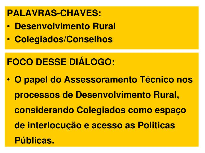 PALAVRAS-CHAVES: