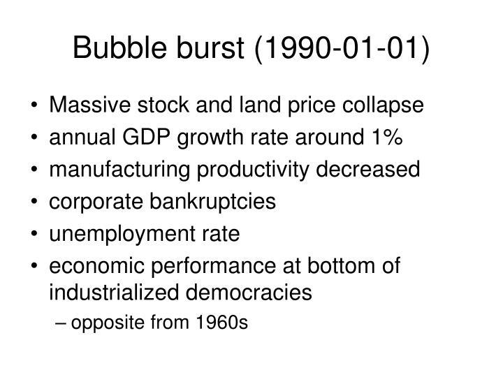 Bubble burst (1990-01-01)