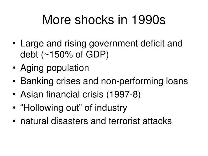 More shocks in 1990s